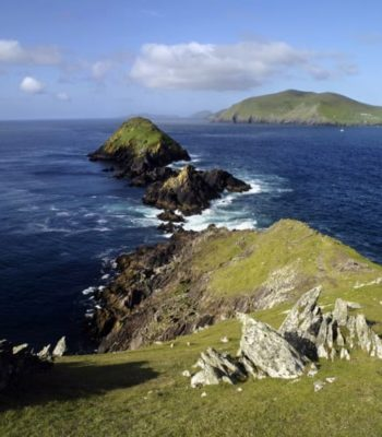 The Great Blasket Island on the Dingle Peninsula and the Wild Atlantic Way in Kerry